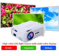 home theater projector 1080p 1800 lumens everycom x7 video mini projector full hd 1080p home