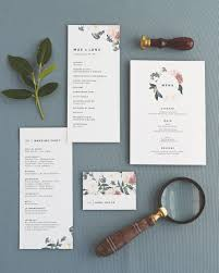 wedding program stationary wedding programs menus and place cards by marvin creative