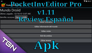 pocket inv editor pro apk pocketinveditor pro 1 11 review español android para minecraft pe