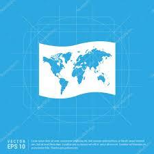 World Map Icon by World Map Icon U2014 Stock Vector Ibrandify 109558702