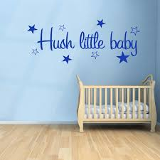 hush little baby wall stickers decals blue hush little baby wall sticker above a baby boy s
