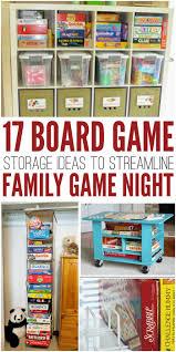 board game storage ideas to streamline family game night