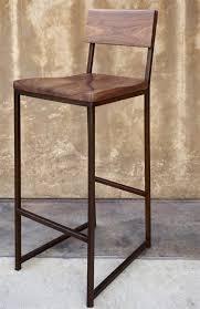 bar stools metal counter stool with wood seat metal counter