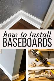 How To Scribe Laminate Flooring Best 25 How To Install Baseboards Ideas On Pinterest