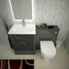 Grey Vanity Unit Mercury Grey Vanity Basin And Wc Unit Inc Toilet Buy Online At
