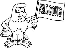100 days of falcons bird coloring page wecoloringpage
