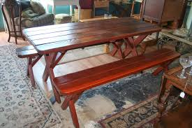 indoor picnic table dining table