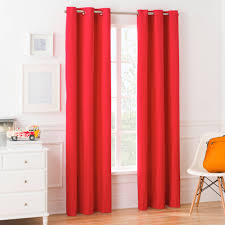Single Window Curtain by Mainstays Grommet Foamback Kids Bedroom Single Window Curtain