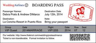 Boarding Pass Save The Date Boarding Pass Magnets