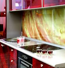Kitchen Backsplash Ideas On Pinterest Kitchen Idea Of The Day A Printed Glass Backsplash See More