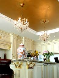 gold leaf metallic silver transitional home traditional interior