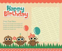 Birthday Invitation Cards Happy Birthday Invitation Card Design Vector Illustration Royalty