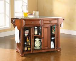 Homedepot Kitchen Island Home Styles Aspen Rustic Cherry Kitchen Island With Seating 5520