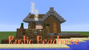 minecraft easy rustic beach house tutorial youtube