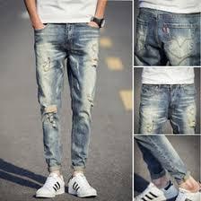 Mens Destroyed Skinny Jeans Discount Mens Patched Jeans 2017 Patched Jeans Mens On Sale At