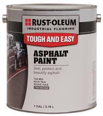 rust oleum industrial flooring white asphalt paint 1 gal at