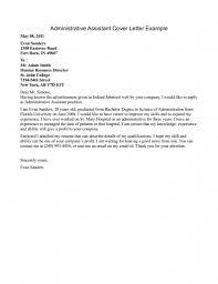 inspiring sample cover letter for entry level administrative