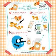 recette de cuisine petit chef recette smoothies abricots lait d amandes atelier enfant manger