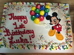 mickey mouse first birthday sheet cake cakecentral com