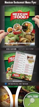 flyer menu template mexican restaurant menu flyer food menu menu and print templates