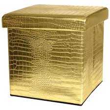 Gold Storage Ottoman by Ottomans Gold Ottoman Pouf White And Gold Storage Ottoman Gold