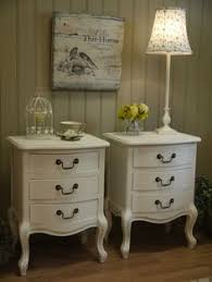 french country side table new shabby chic antique style french country cream bedside table