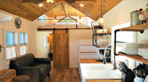 tiny house on wheels modern farmhouse interior floor level u0026 loft