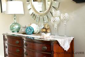 Pretty Blues and Metallics Our Fall Entry Table} Decorchick