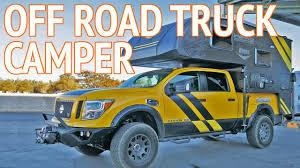 nissan titan pop up camper ultimate 4x4 off road truck camper lance camper concept vehicle