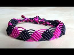 bracelet macrame images Bracelet macram 2 losanges interm diaire jpg