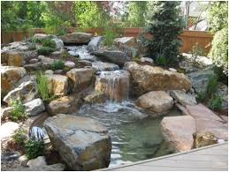 best backyard water features waterfalls images with cool backyard