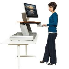 Sit Stand Computer Desk by Sit Stand Desks Elevate Desktop Fitneff Canada