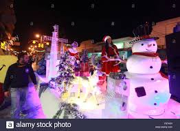 Bethlehem Lights Snowman by December 14th 2015 West Bank Bethlehem People Ride A Christmas