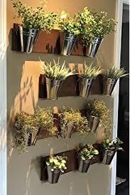 amazon com groves indoor herb garden hanging 6 pot wall planter