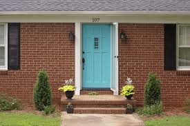Blue House With Red Door Homegrowninky My House Is Smiling