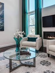 Teal Livingroom A Bold Rental Friendly Redesign In Chicago Grey And Turquoise