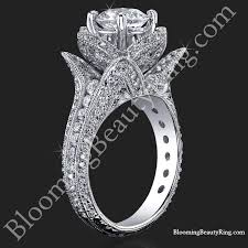 big flower rings images 1 67 ctw small hand engraved blooming beauty wedding ring set jpg