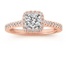 Cushion Cut Halo Diamond Engagement Ring In Platinum Halo Diamond Engagement Ring For 75 Carat Cushion Cut In 14k Rose