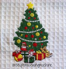 embroidered christmas embroidered christmas towels once upon a sewing machine