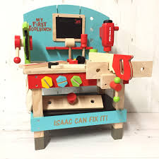 Toy Wooden Tool Bench Toys Love Unique Personal