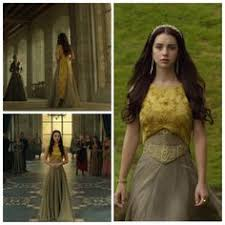 mary u0027s green and yellow dress with cloak 1x04 hearts and minds
