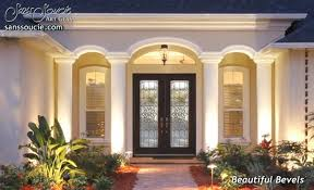 Beautiful Exterior Doors Glass Entry Doors With Custom Etched Glass Beveled Glass