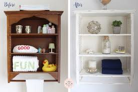 Shabby Chic Wall Cabinets by Diy Shabby Chic Bathroom Cabinet 3 Easy Steps