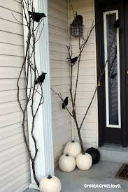 tree branch decorations in the home 22 amazing diys for outside halloween decorations 20 bare trees