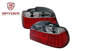 e38 euro tail lights spyder bmw e38 7 series 95 01 led tail lights red clear youtube