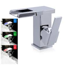 online shop rgb led bathroom lavatory faucet sink tap basin mixer