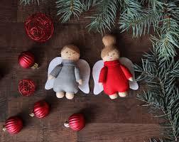 santa claus ornament mrs claus ornament felt