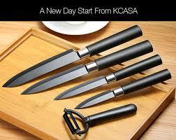 black kitchen knives kcasa kc cf007 black ceramic knife sets kitchen cutlery rust proof