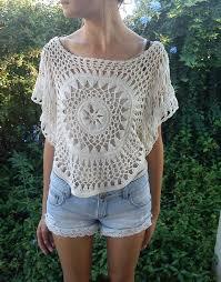 crochet blouses shirt shorts lace knit crochet crop tops see through summer