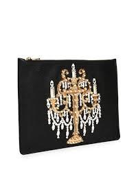 Leather Chandelier Dolce U0026 Gabbana Large Leather Chandelier Pouch Black